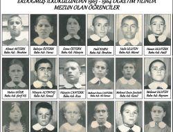 Erdoğmuş İlkokulundan 1963-1964 Öğretim Yılında Mezun Olan Öğrenciler