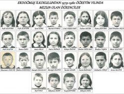 Erdoğmuş İlkokulundan 1979 -1980 Öğretim Yılında Mezun Olan Öğrenciler